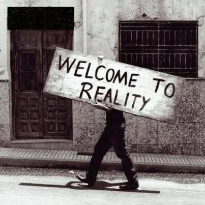 Bienvenida a la realidad