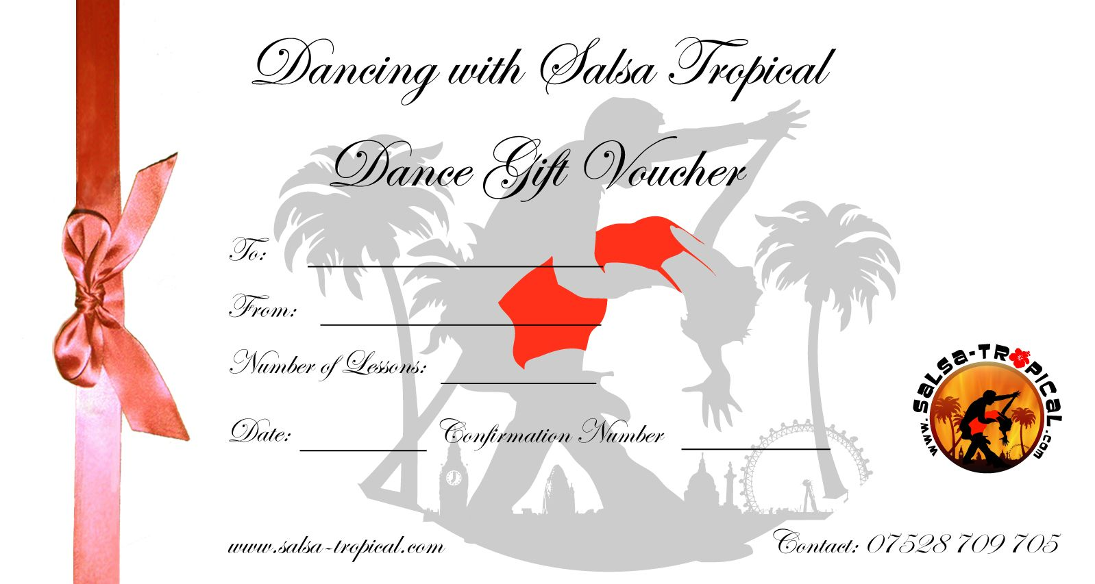 Dance gift certificate dance gifts gift certificates and dance gift certificate salsa tropical is a latin dance company offering numerous salsa dance services yadclub Gallery