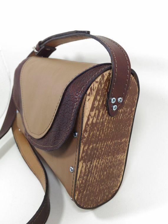 Pelle Di Legno.Borsa Legno E Pelle Di Leatherfactoryitalia Su Etsy Bags