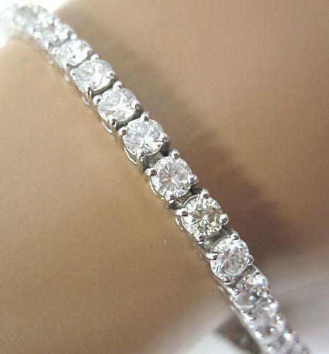 Bankruptcy 70 Off 8 Carat Quality White Diamond 14k Gold Tennis Bracelet