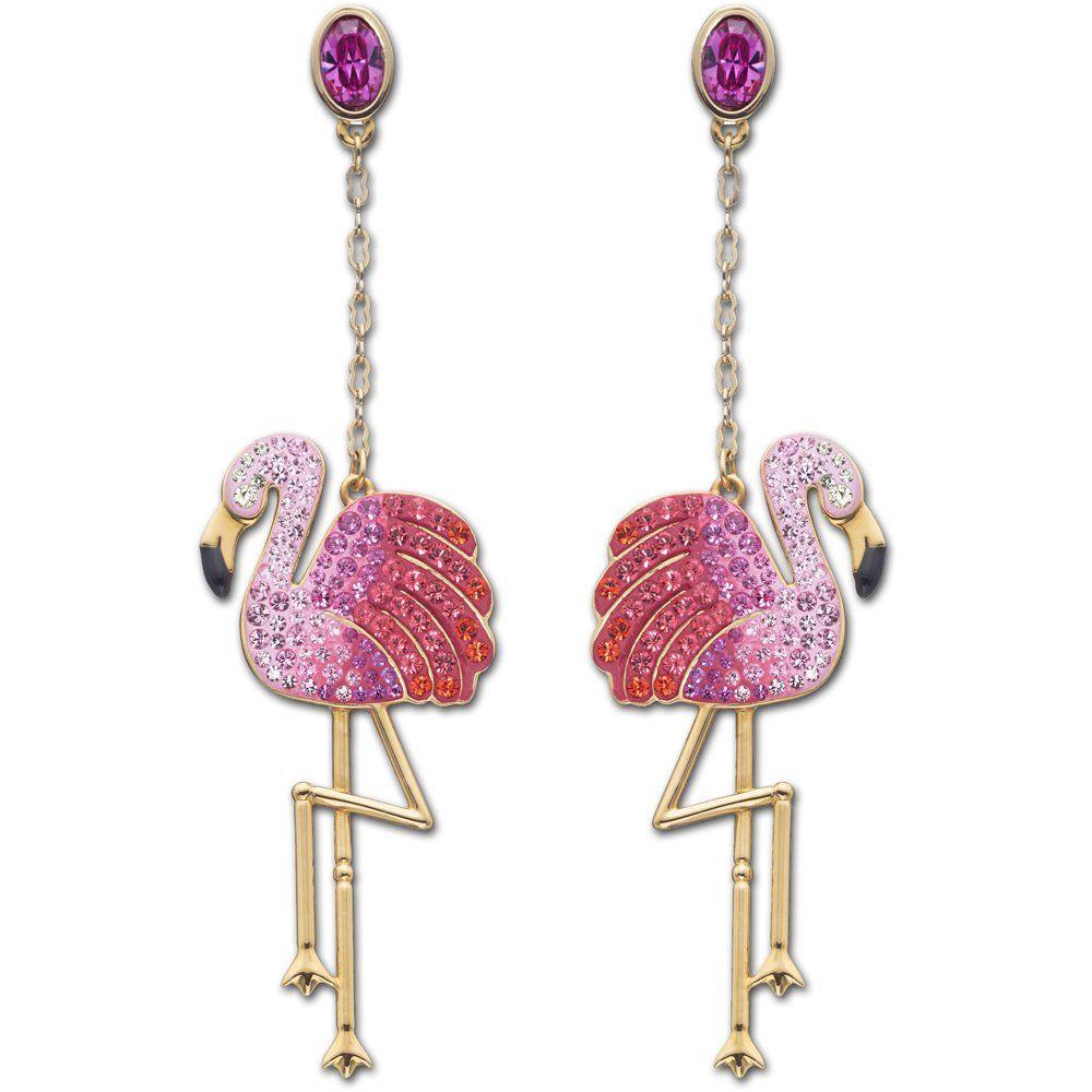 swarovski toco flamingo drop earrings jewelry