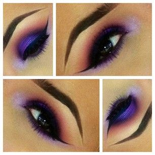 more in love with her eyebrows lol  purple makeup eye