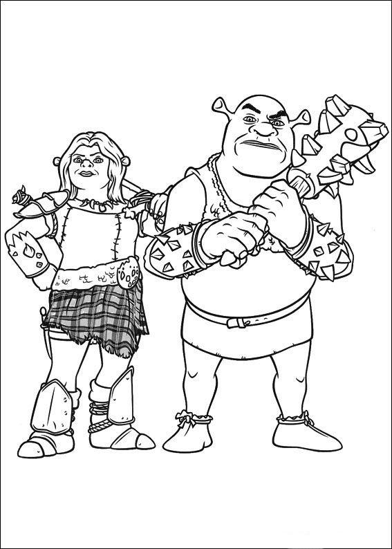 Dibujos para Colorear Shrek 82 | Dibujos para colorear para niños ...