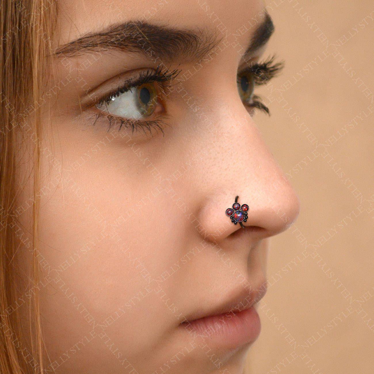 Nose Hoop Ring 20g 316L surgical steel nose piercing