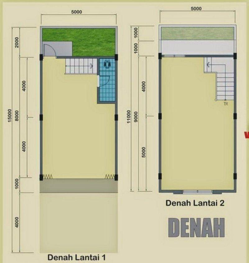 Denah Rumah Ruko 2 Lantai 7x10 M Yang Terkini Denah Rumah Lantai Rumah