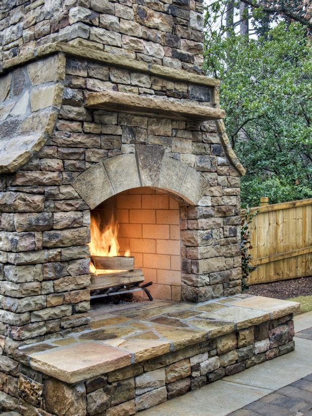 garden. cool patio decoration with masonry fire rock outdoor