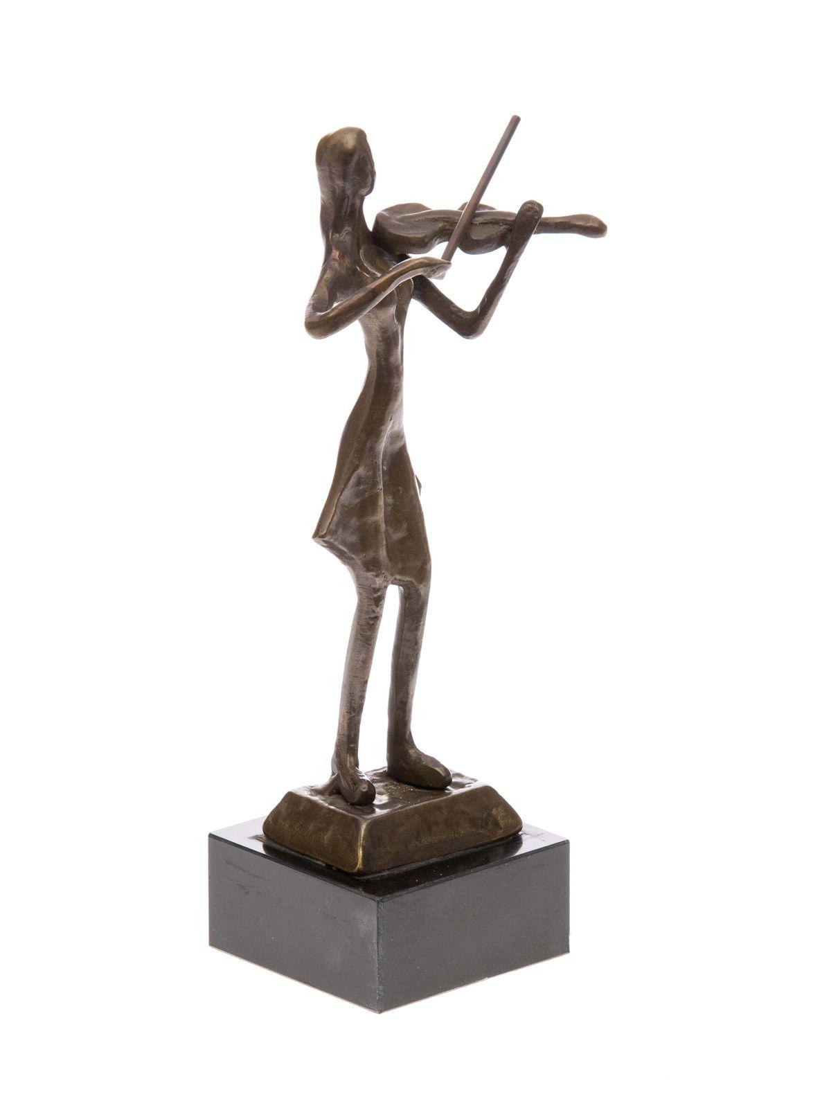 bronzeskulptur geigerin geige figur