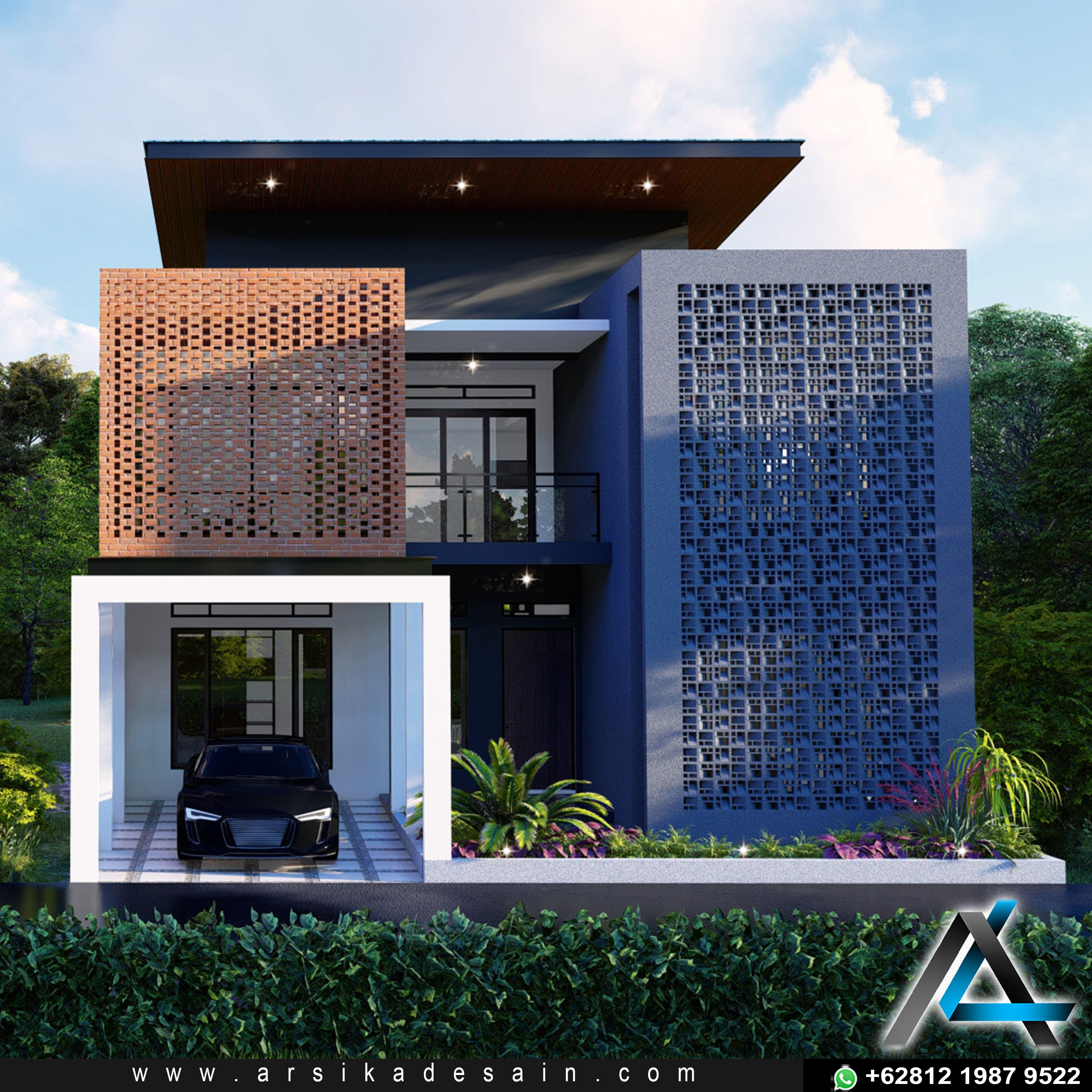 Desain Eksterior Rumah Industrial Cek Bahan Bangunan