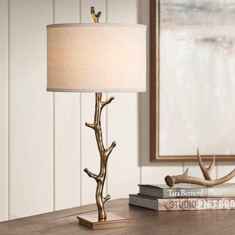 Uttermost Javor Antiqued Gold Tree Branch Metal Table Lamp 13y60 Lamps Plus Metal Table Lamps Lamp Table Lamp