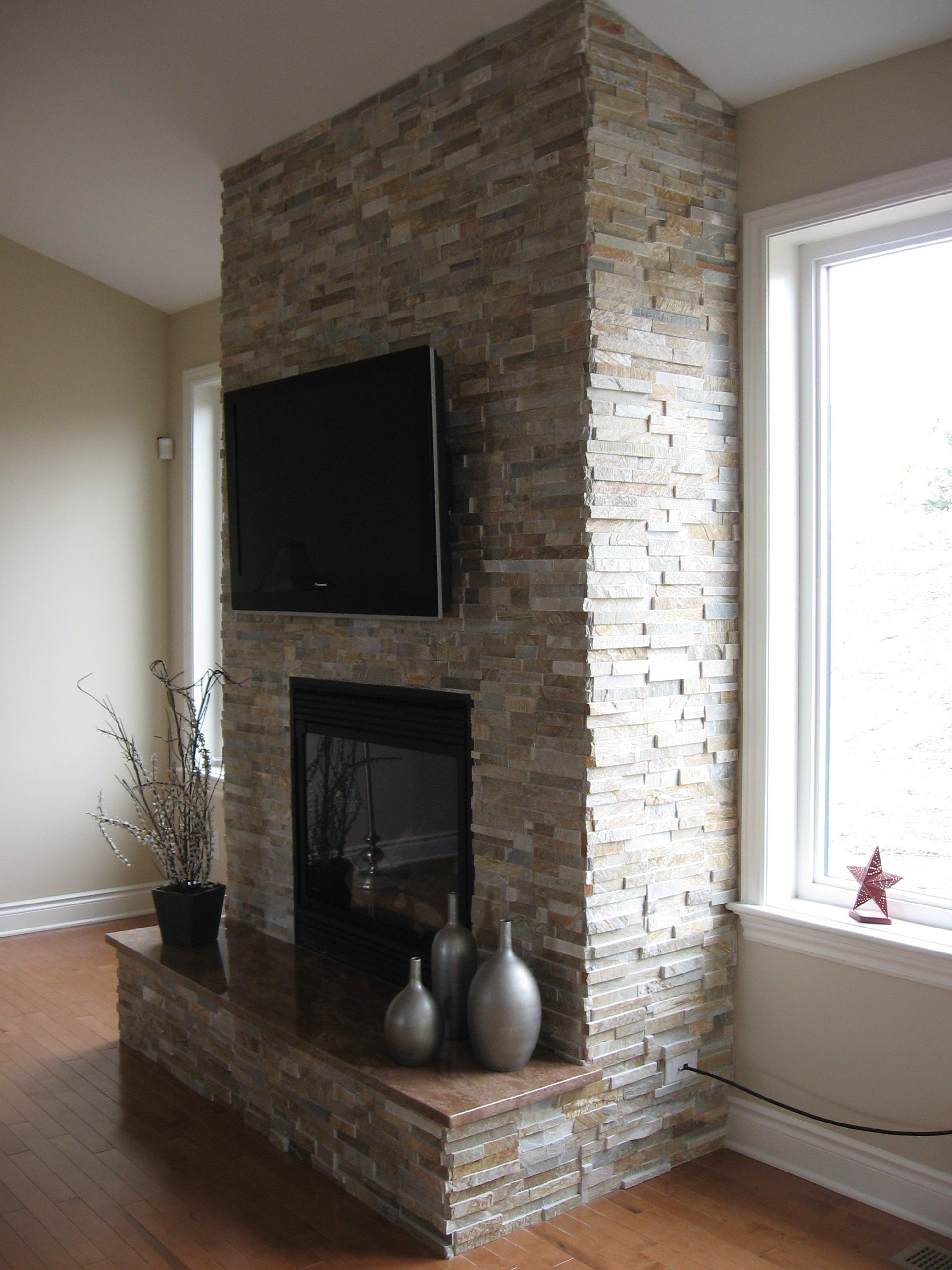 Fireplace Done With Realstone Systems Sierra Shadowstone With