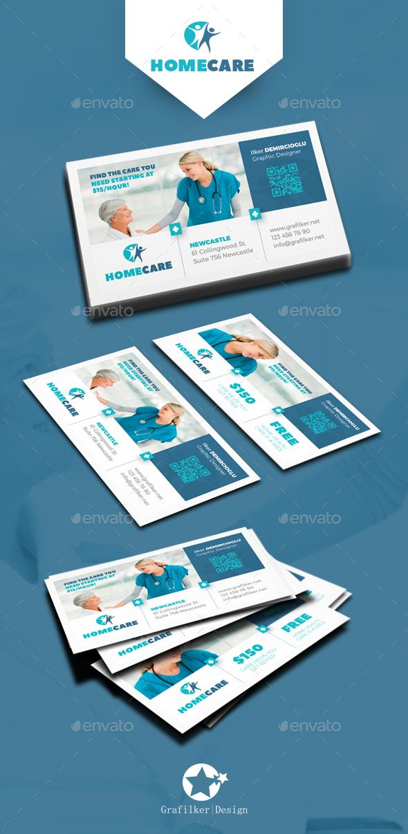 Home Health Care Business Card Templates | Card templates, Business ...
