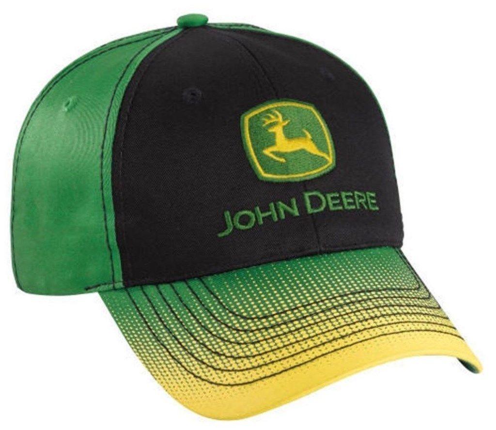 9.99 - John Deere Black Green Cap Gradient Dot Visor Jd Hat 261565  ebay   Fashion e67c04fe56ab
