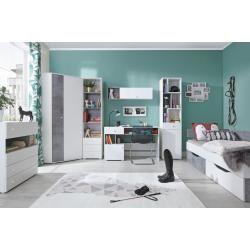 Photo of Wardrobe / hinged door wardrobe Lopar 37, color: walnut / black, partly solid – dimensions: 196 x 1 – io.net/dekor