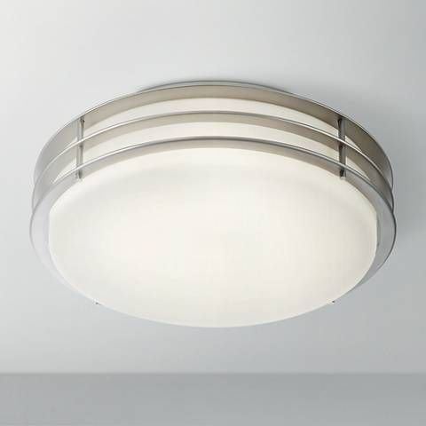 Possini euro alton 13 wide brushed nickel led ceiling light 6j110 lamps