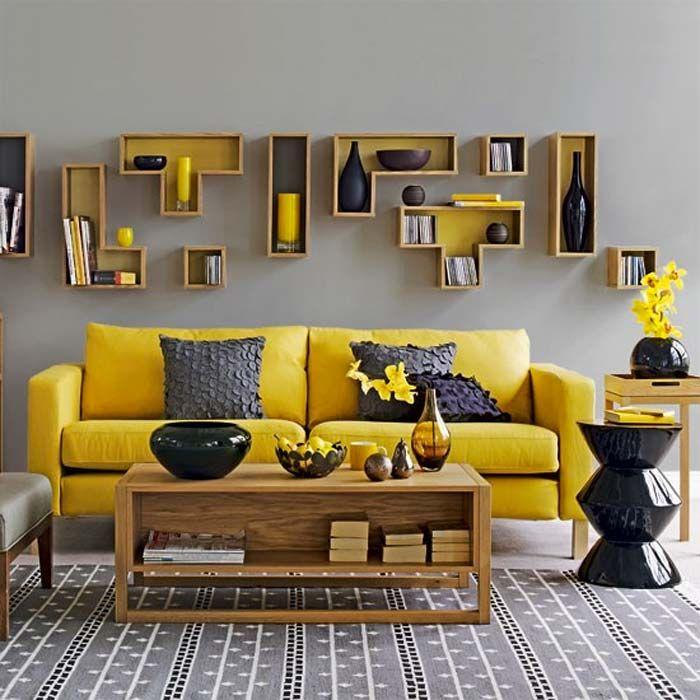 salon-decorado-en-gris-y-amarillo-sofa.jpg (700×700)   Discover ...