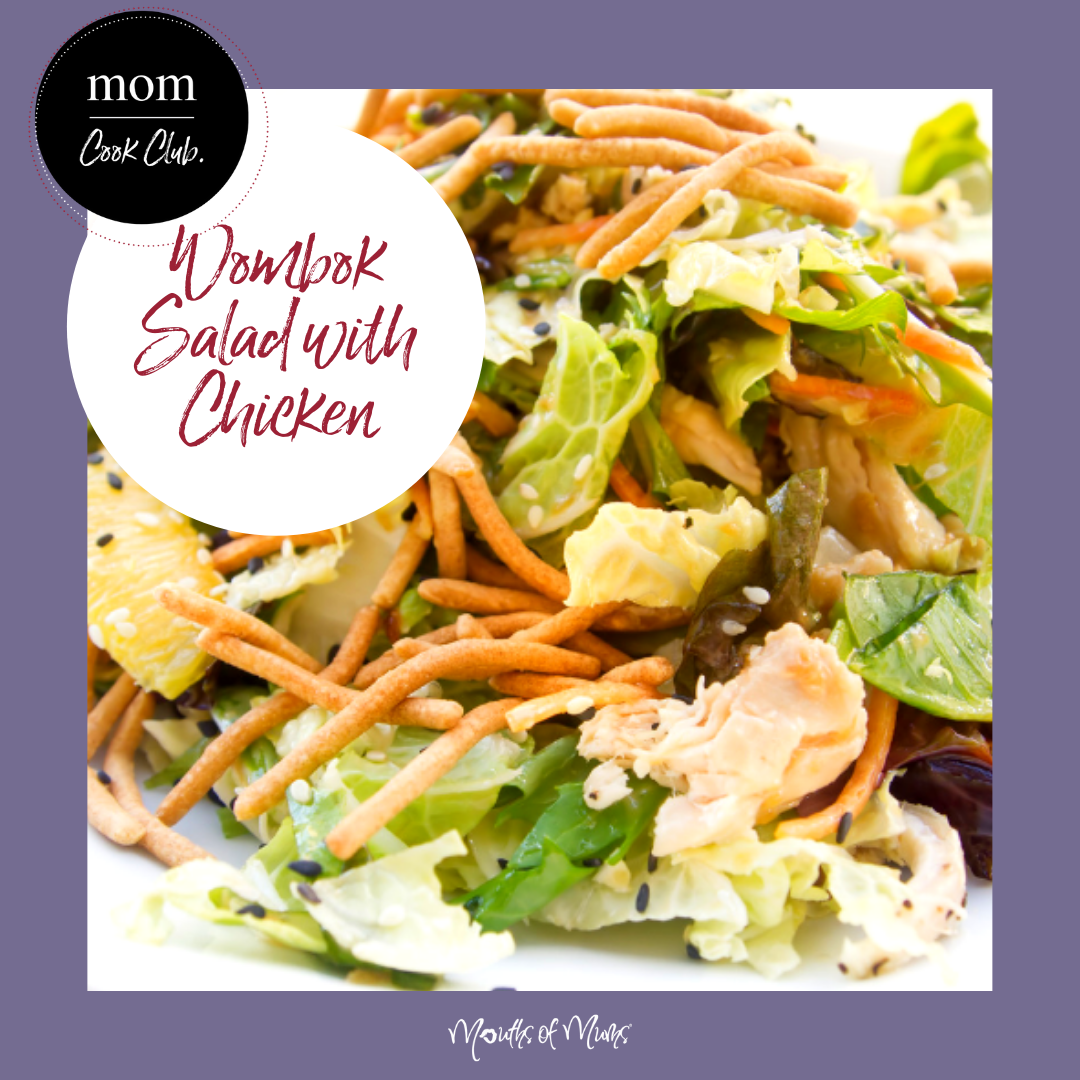Just because the weather's cooling down, you don't need to eat big heavy dinners every night.  Break the week up with a lovely light Wombok Salad with Chicken.  Top off with a sprinkle of crunchy noodles and everyone is happy! Recipe over in MoM CookClub . . #momcookclub #mouthsofmums #nomnom #easyrecipe #delish #homemade #closetohome #sogood #womboksalad #changscrunchynoodles #salad