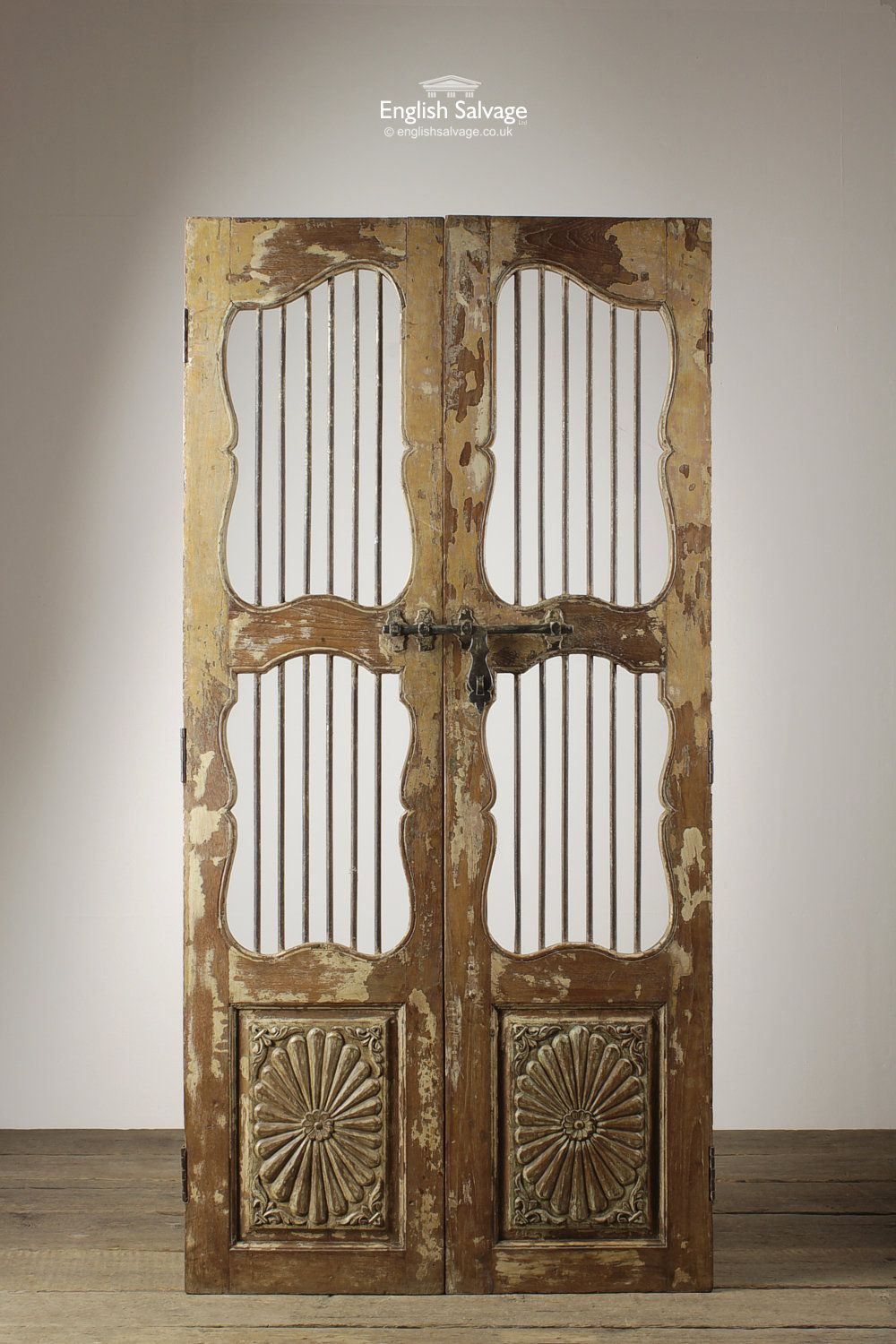 Tall Decorative Carved Pair of Jali Doors & Tall Decorative Carved Pair of Jali Doors | Reclaimed Doors ... pezcame.com