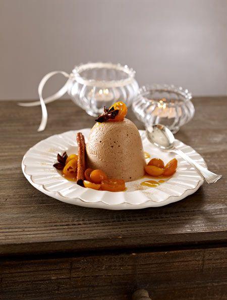 lebkuchenparfait mit kumquats karamellso e rezept. Black Bedroom Furniture Sets. Home Design Ideas