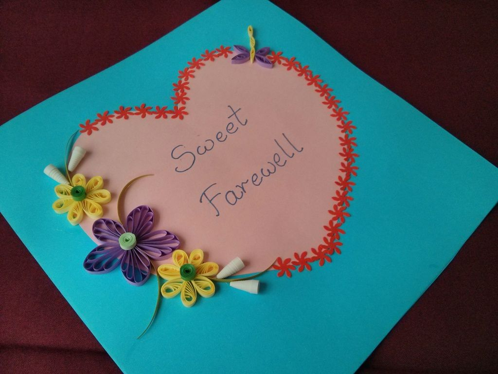 Quiiling card made for a teacher leaving school paper quilling quiiling card made for a teacher leaving school kristyandbryce Gallery
