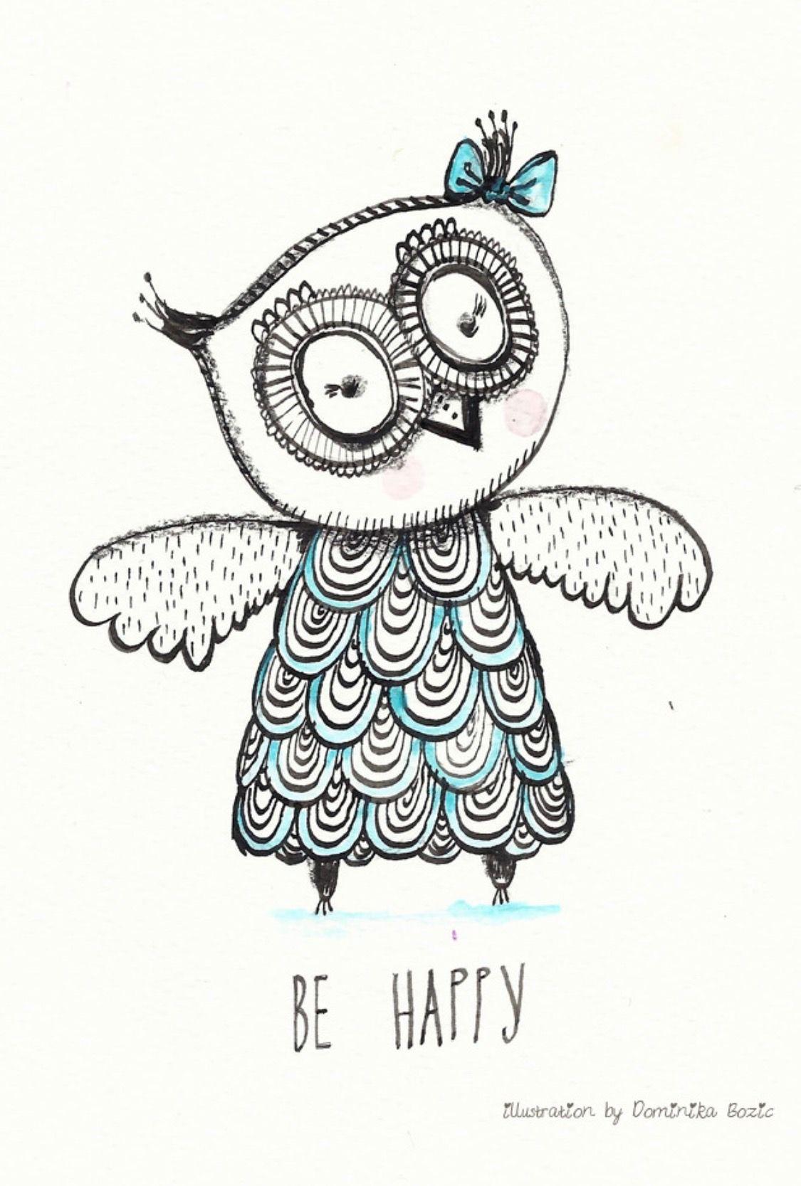 Owl - Dominika Bozic | #owlfanatic | Pinterest | Eulen zeichnen ...