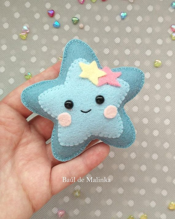 Star PDF pattern Felt stars DIY star ornament Nursery decor Baby's mobile toy Felt baby toy Kids present Felt ornament star garland