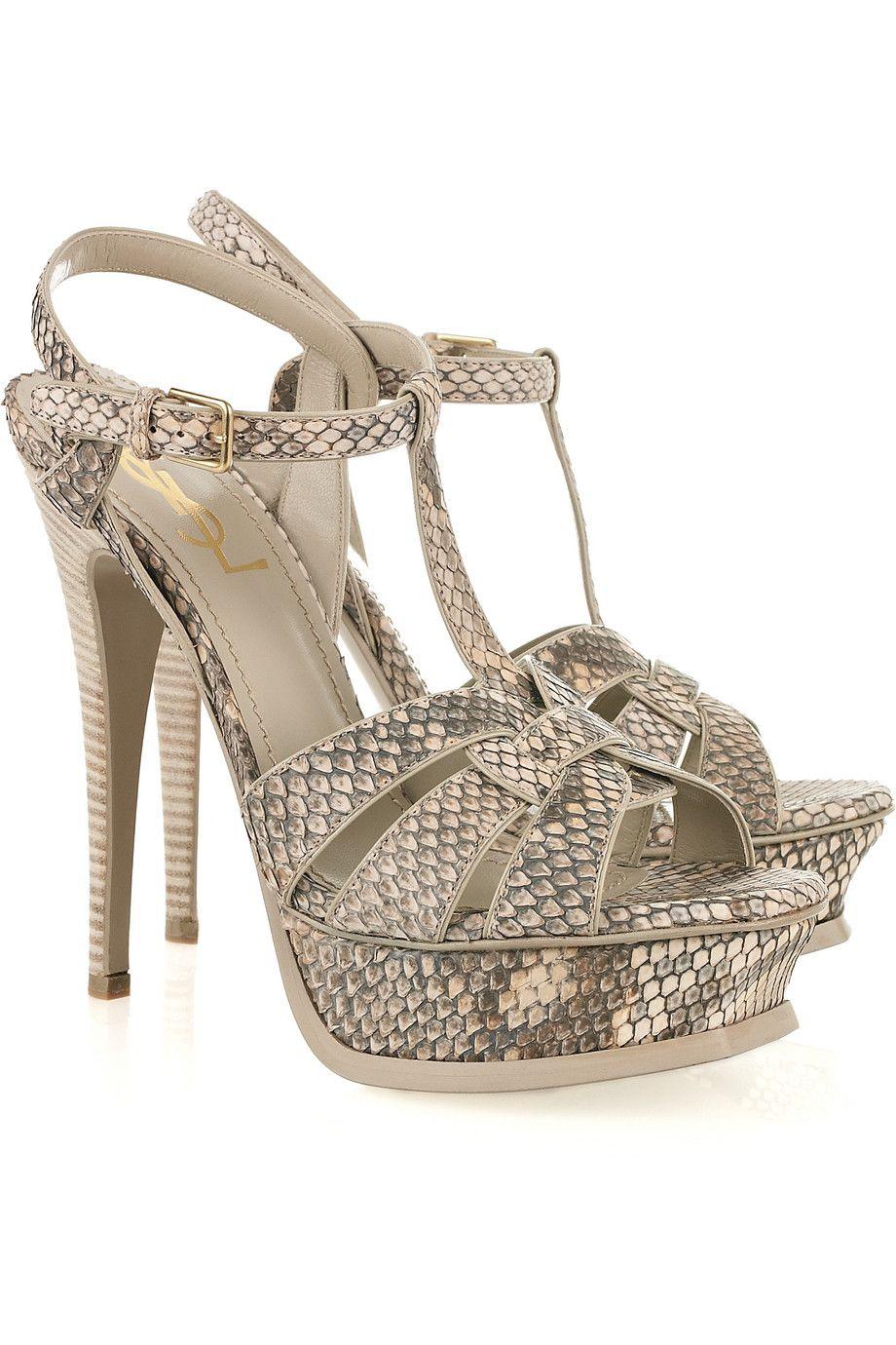 f7b5bf519a0 YSL Tribute python sandals - i dieee!!!