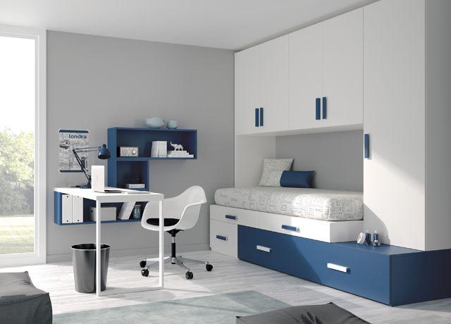 Kids touch cama compacta 41 juvenil camas compactas y for Cama compacta con escritorio
