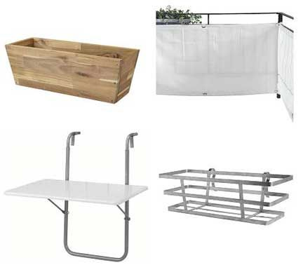 Ikea Summer 07: Products for a balcony #smallbalconyfurniture