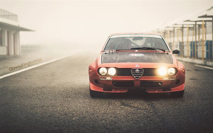 Lataa kuva Alfa Romeo Alfetta 2000GT, kilpa-autot, 1974 autoja, Tyyppi 116, Alfa Romeo
