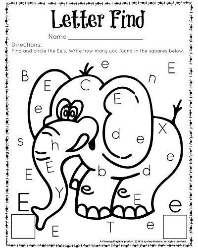 Cute Letter Find Worksheets With A Freebie Education Pinterest