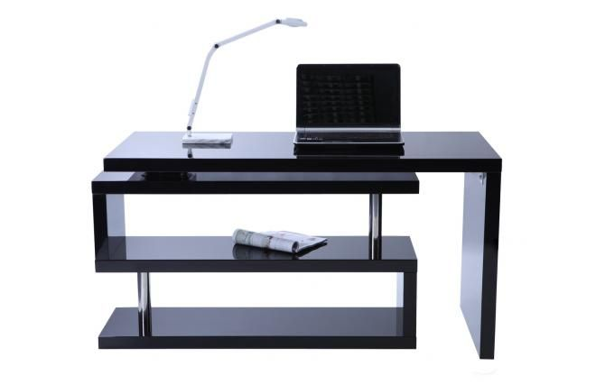 Bureau design noir laqué amovible max zoom home