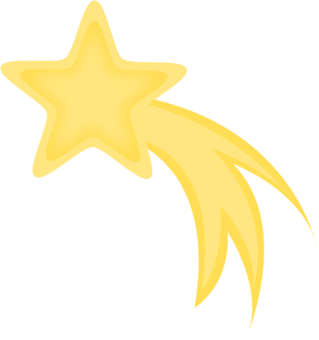 Yellow Shooting Star Star Clip Art Shooting Stars Star Clipart