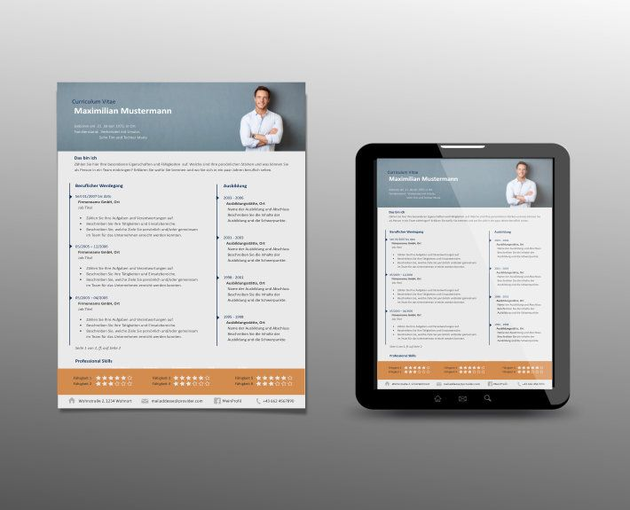 Profi Lebenslauf Vorlage Foto Header - Top Job Bewerbung | Corporate ...