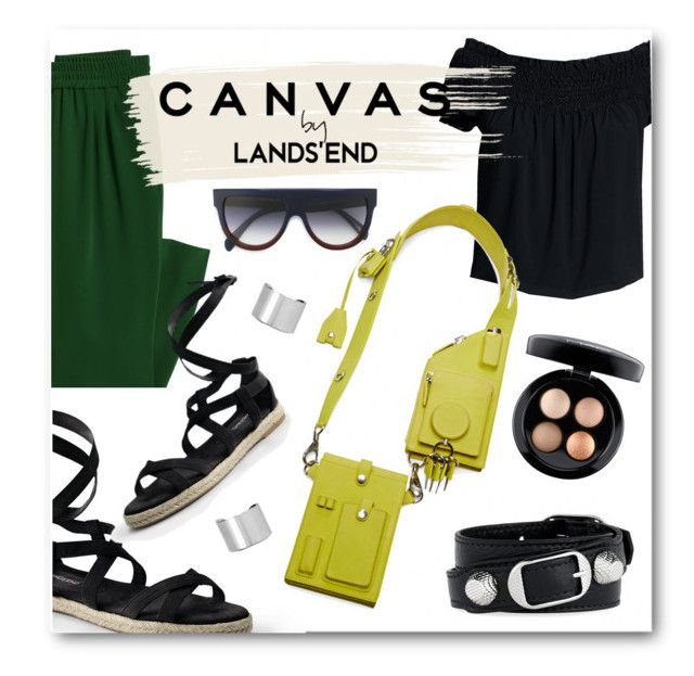 """""""Paint Your Look With Canvas by Lands' End: Contest Entry"""" by yihansong ❤ liked on Polyvore featuring Canvas by Lands' End, Alexander Wang, Lands' End, CÉLINE, Maison Margiela, Balenciaga and MAC Cosmetics"""