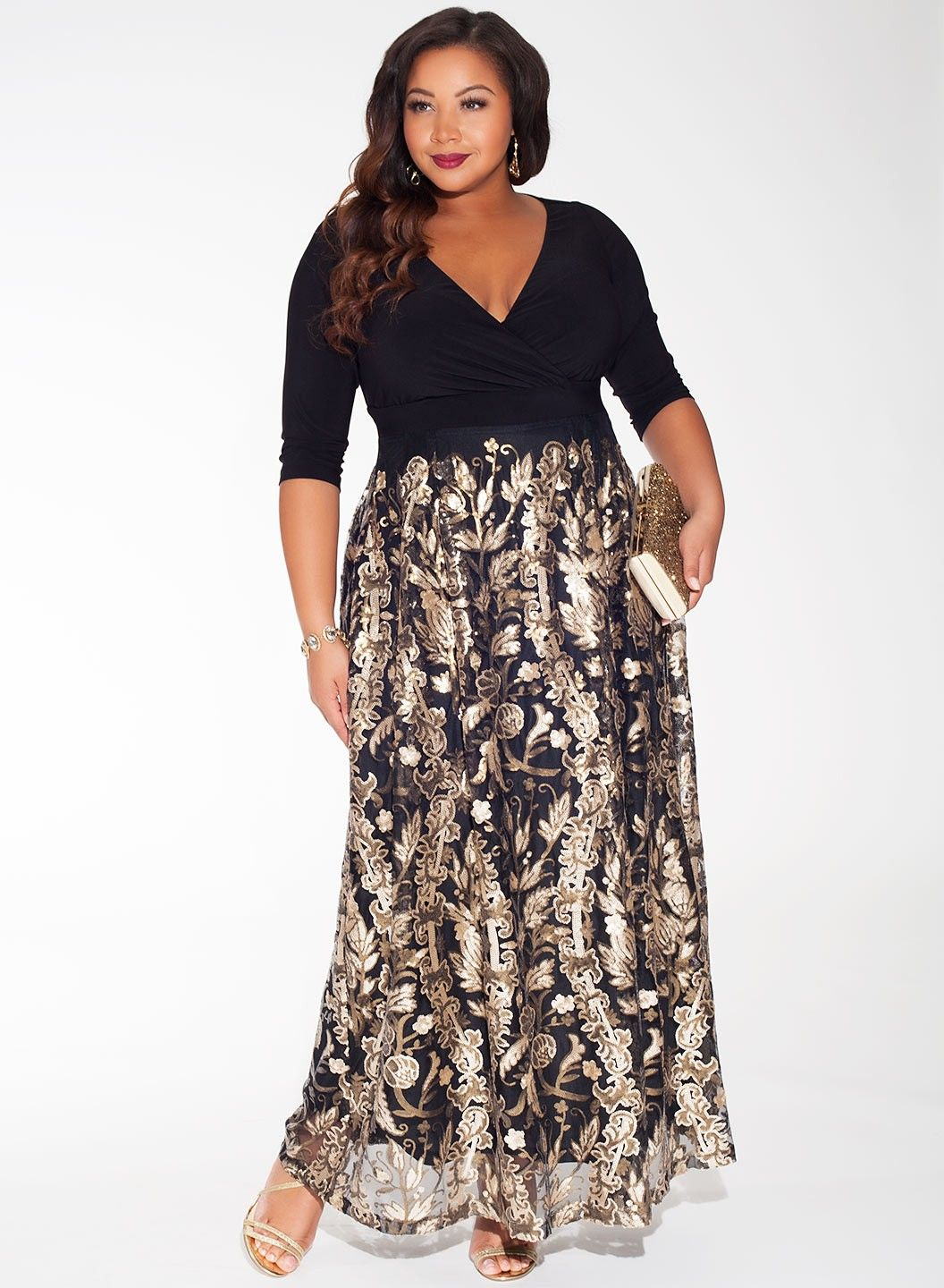 A luxe embellished floor sweeping length skirt combined with a