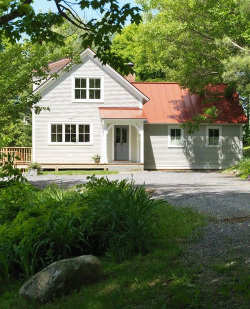 Modern House Red Roof: New Vermont Farmhouse On Old Foundation