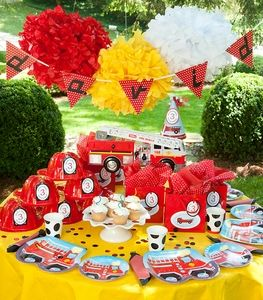Five Alarm Fire Truck Personalized  'One Click' Party Package
