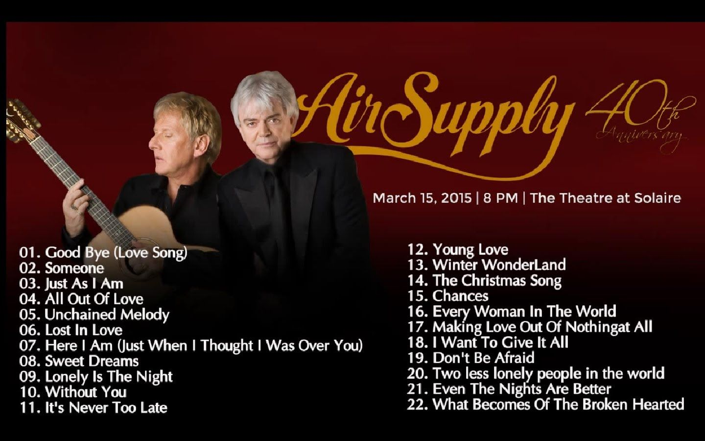 Air Supply S Greatest Hits Full Album Best Of Air Supply Full