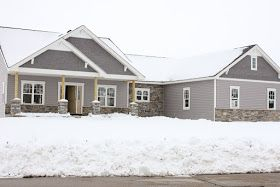 Lot 23 Day 119 Outside House Colors House Paint Exterior Grey Siding House