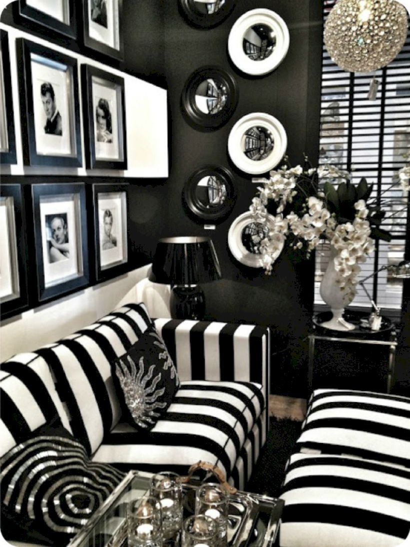 59 Black and White Living Room Decor with Minimalist Design images