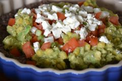 Layered Sweet Corn Guacamole and Black Bean Dip | Sally Cooks
