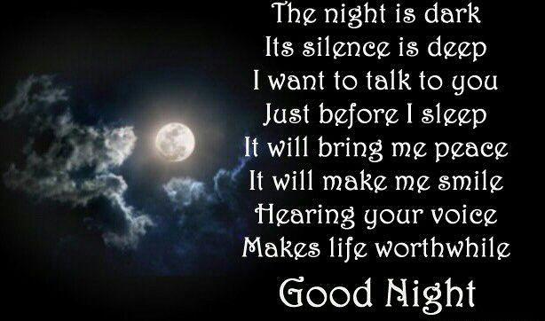 A Nice Little Nighttime Poem Good Night Poems Good Night Love Quotes Good Night Sister