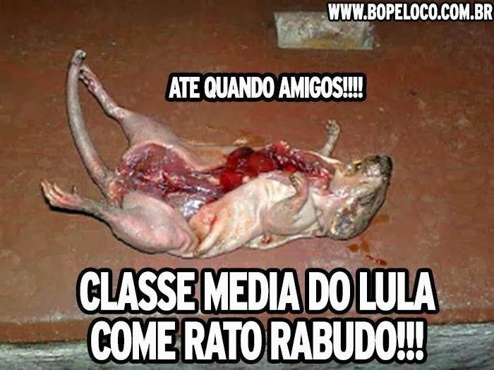 Infelizmente no nordeste do Brasil. muitas pessoas são obrigadas a comer ratos para não morrerem de fome
