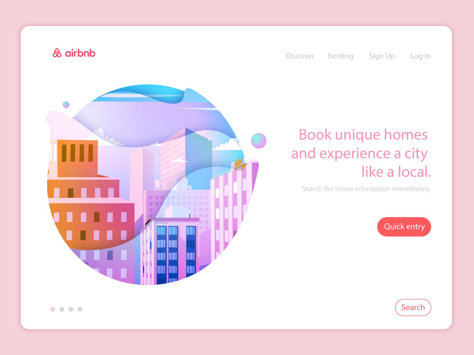 The Web Of Airbnb Homepage Vector Illustration By Sean Song Website Design Wordpress Wordpress Web Design Web Design