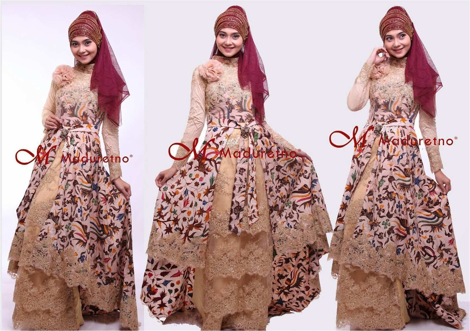 9 Ide Model Kebaya Brokat Kombinasi Batik  Dresses, Model kebaya