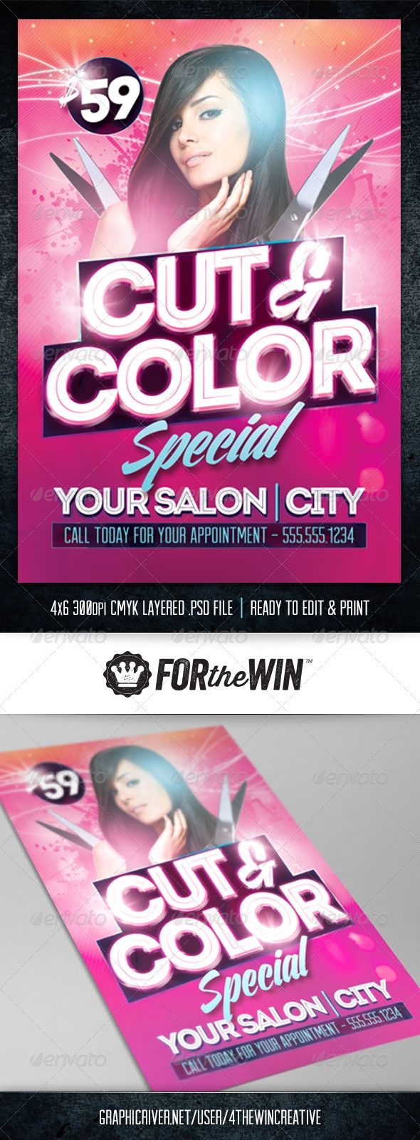 Hair Salon Flyer Template  Flyer Template Salons And Edit Text