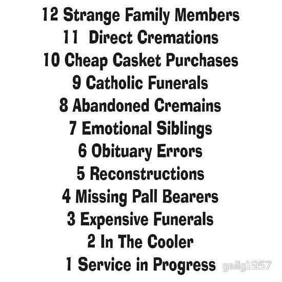 Funny Funeral Director Mortician Quotes