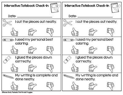 Interactive Notebook SelfAssessment Page Freebie Have Students