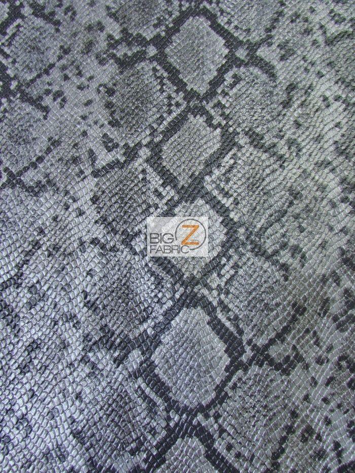 Python Snake Skin Embossed Upholstery Fake Leather Vinyl Fabric