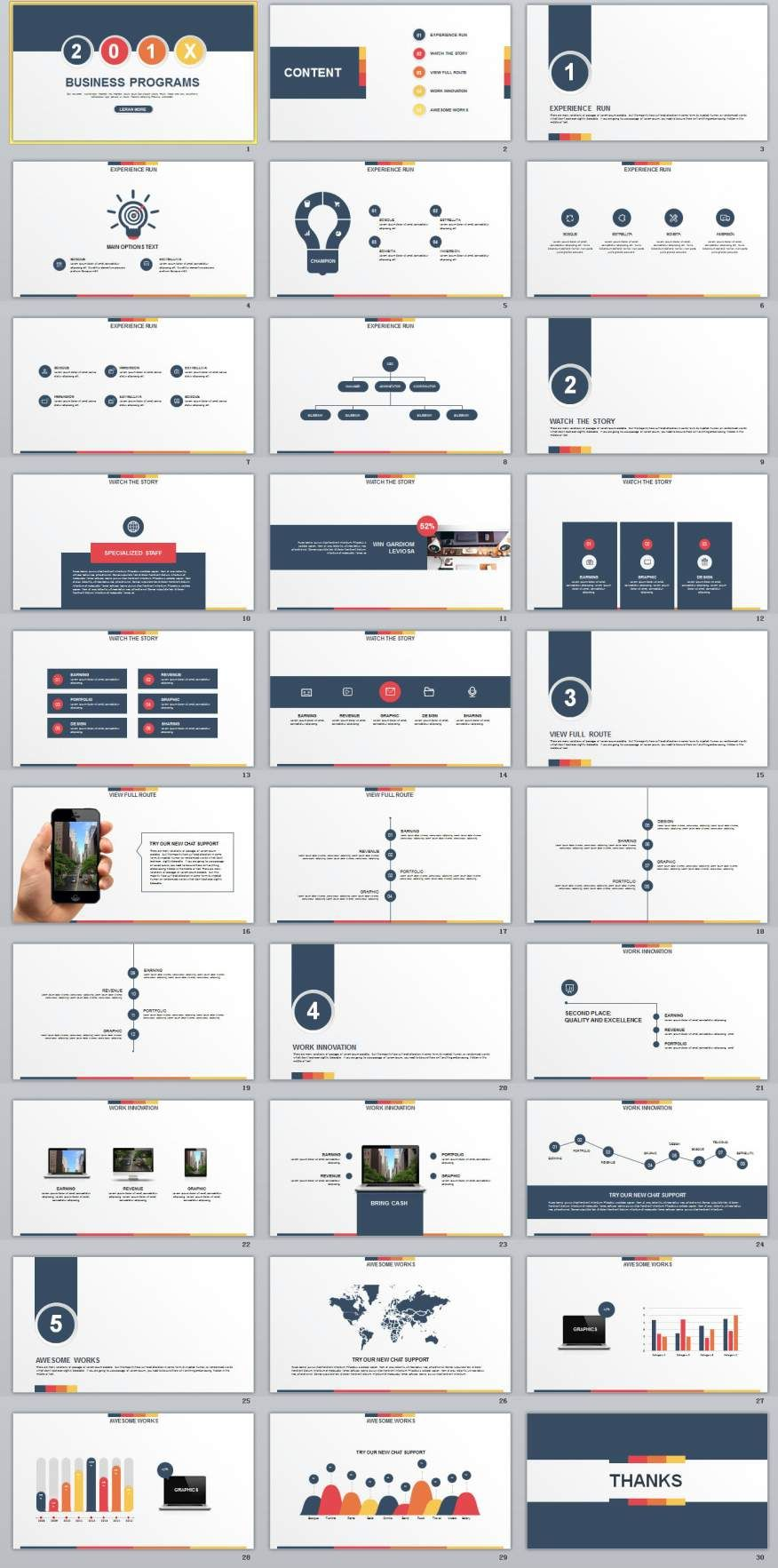 Design Programs 30 Multicolor Business Programs Powerpoint Template